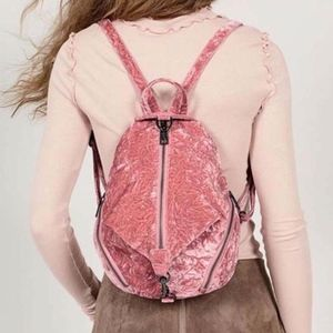 Adorable velvet pink Rebecca Minkoff backpack